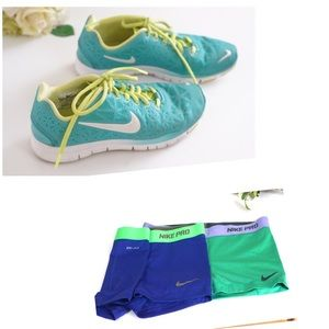 Nike tennis shoes size6.5  and Nike shorts